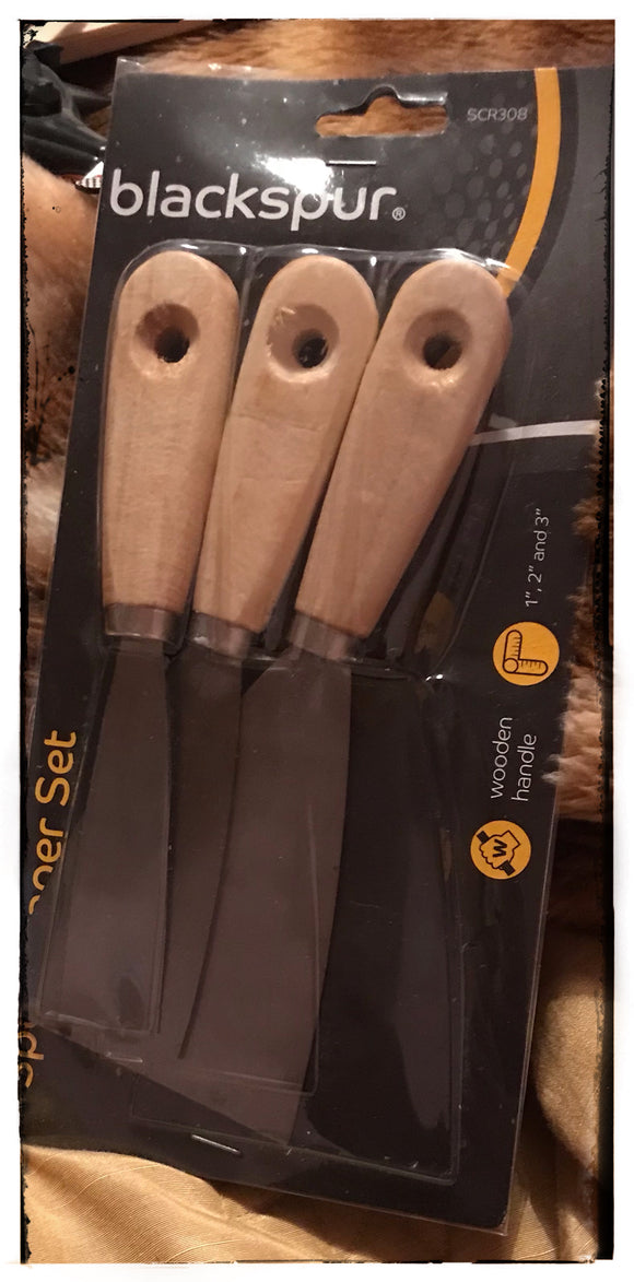3 PIECE SCRAPER SET - NEW