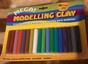 MODELLING CLAY-18 PIECE SET