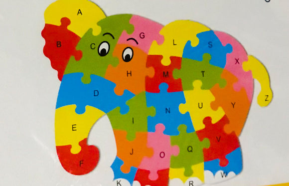 WOODEN ELEPHANT PUZZLE- 3YRS +