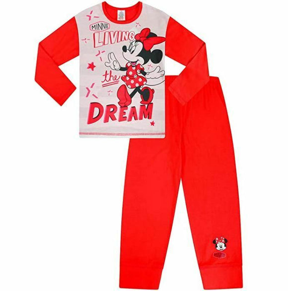 MINNIE MOUSE GIRL PYJAMAS -9YRS - 10YRS