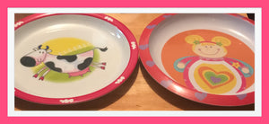 TWO MELAMINE PLATES (BRAND NEW)