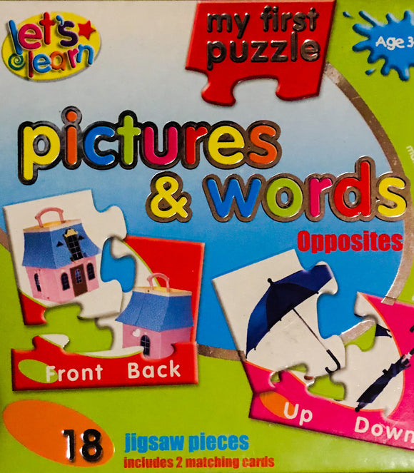 MY FIRST PUZZLE PICTURES AND WORDS - (AGE 3YRS+)
