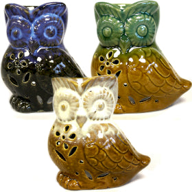 CLASSIC RUSTIC OIL BURNER  - OWL SIDE ON