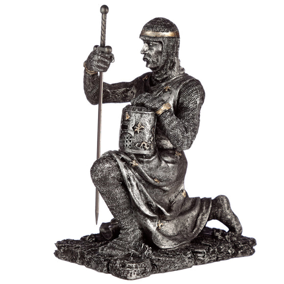 COLLECTIBLE KNEELING KNIGHT FIGURINE I