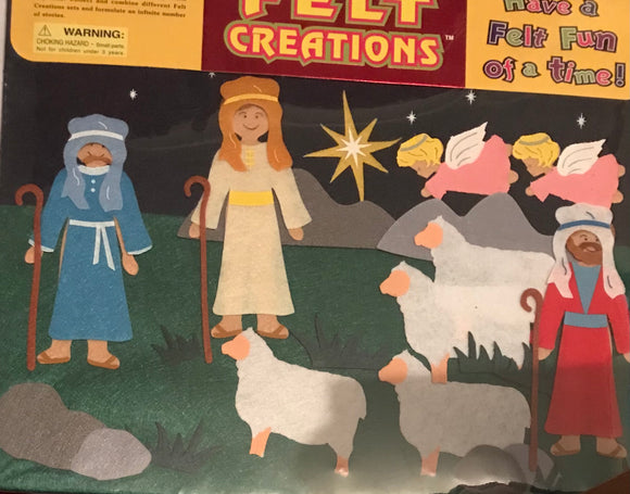 FELT CREATIONS - SHEPHERDS (NATIVITY SCENE)