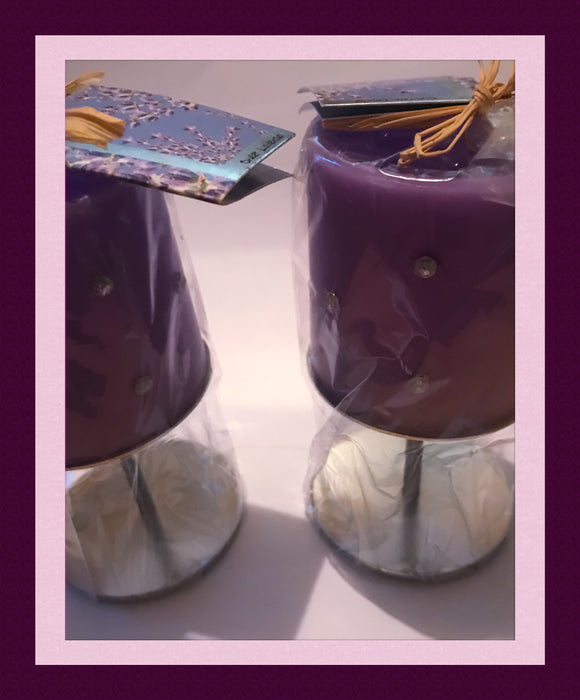 CANDLES - GIFT SET (LAVENDER SCENTED)-NEW