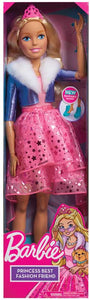 BARBIE BEST FASHION FRIEND PRINCESS ADVENTURE 28 INCH DOLL- 3YRS +