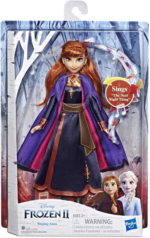 DISNEY FROZEN 2- SINGING ANNA DOLL (3+YRS)