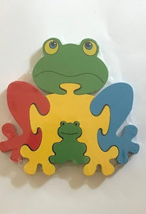 WOODEN TOY FROG PUZZLE 3YRS - 6YRS