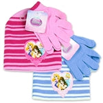 DISNEY PRINCESS GIRLS TODDLER HAT AND GLOVES SET