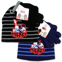 MICKY MOUSE TODDLER BOYS HAT AND GLOVES SET