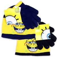SPONGE BOB TODDLER BOYS HAT AND A GLOVES