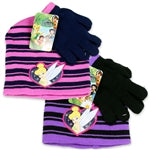 TINKERBELL GIRLS TODDLER HAT AND GLOVES SET