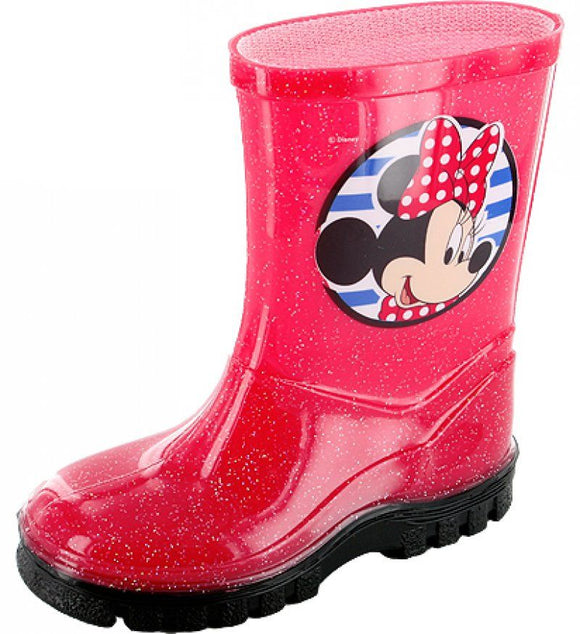 MINNIE MOUSE - WELLINGTON BOOTS - RED - MIXED SIZES - FREE DELIVERY