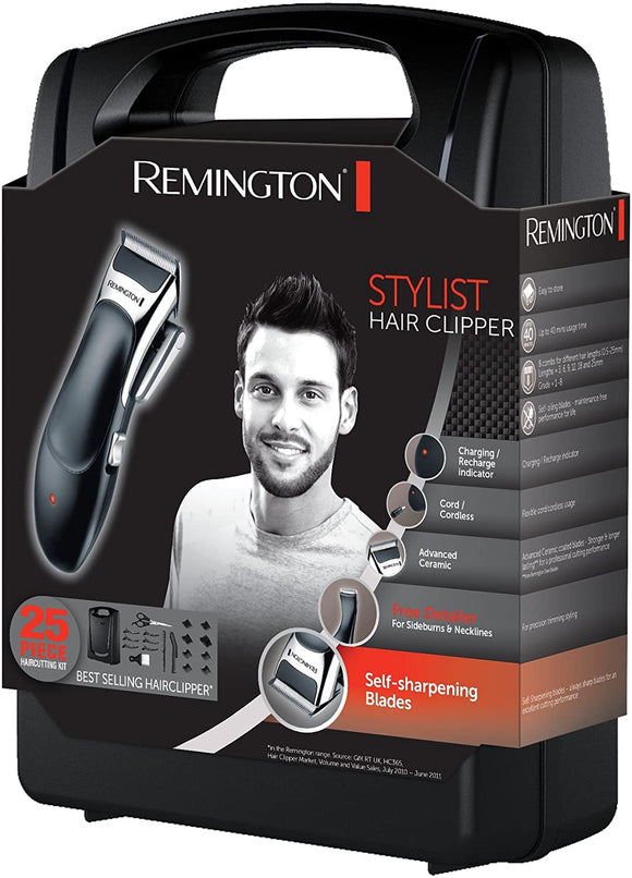 Remmington Stylist Hair Clipper 25 piece Haircutting Kit