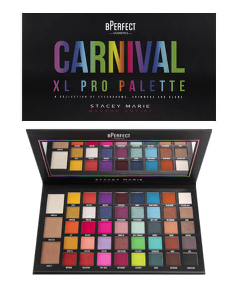 BPerfect Carnival XL PRO Eyeshadow palette by Stacy Marie  | LA Image