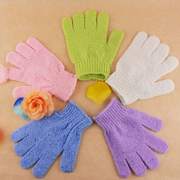 Pair of Shower Bath Exfoliation Gloves | LA Image