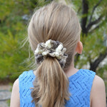 100% Cotton Ombre Ruffled Crochet Hair Scrunchies | Set of 3