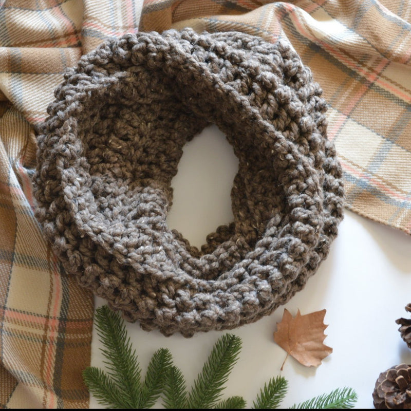 Knit Crochet Chunky Women's Cowl Hood Scarf | THE CARDIFF