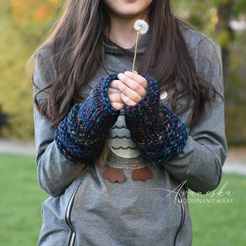 Knit Chunky Fingerless Arm Warmers Gloves | THE KEMPTENS