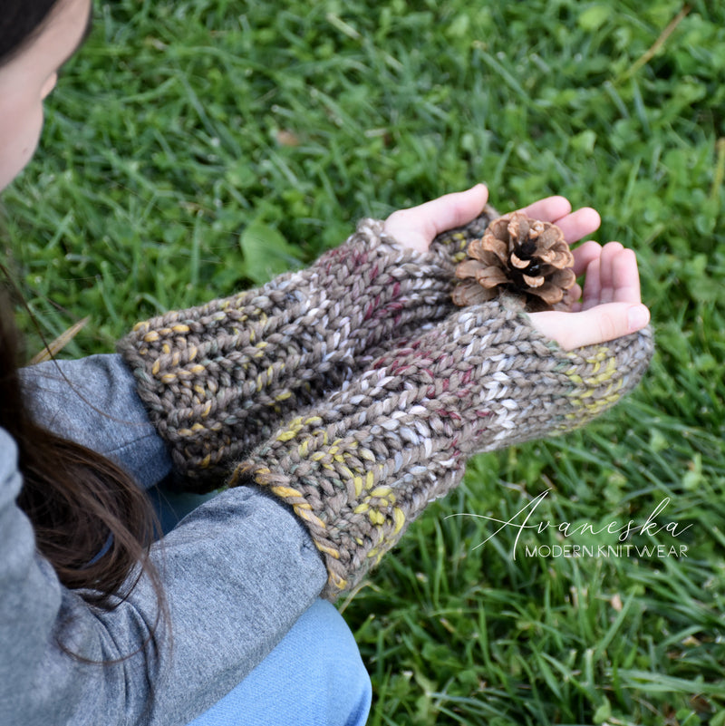 Knit Chunky Fingerless Arm Warmers Gloves | THE BRUGES