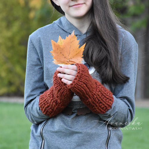 Knit Chunky Fingerless Arm Warmers Gloves | THE ROCKLANDS
