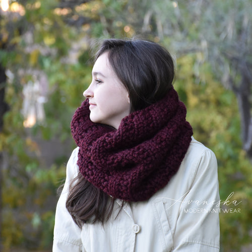 Knitted Chunky Neck Warmer Cowl Scarf | THE PITTSBURGH