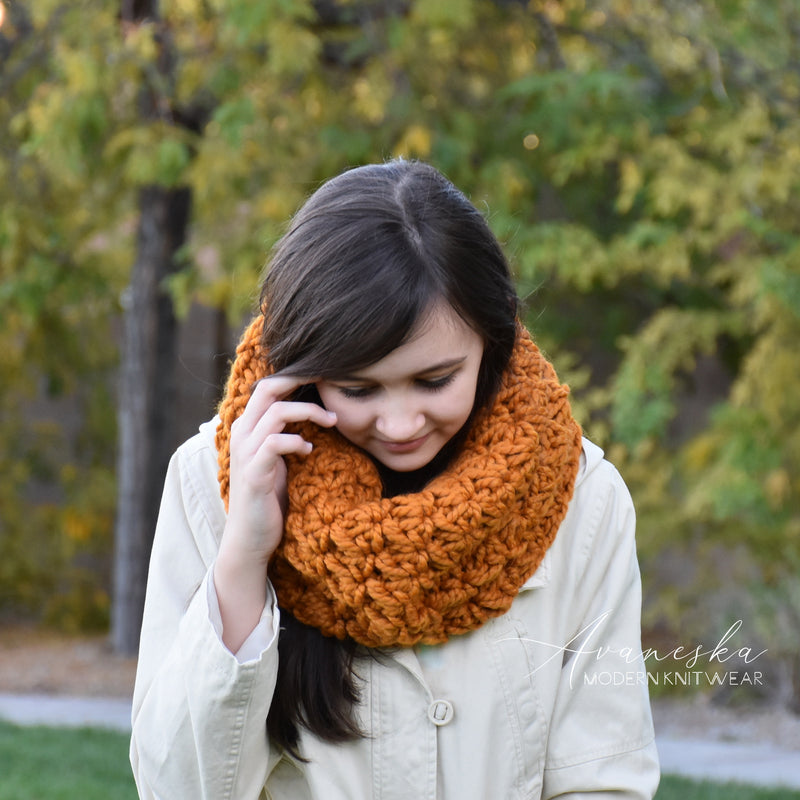 Knit Crochet Winter Chunky Woolen Cowl Neck Warmer Scarf | THE FLORENCE