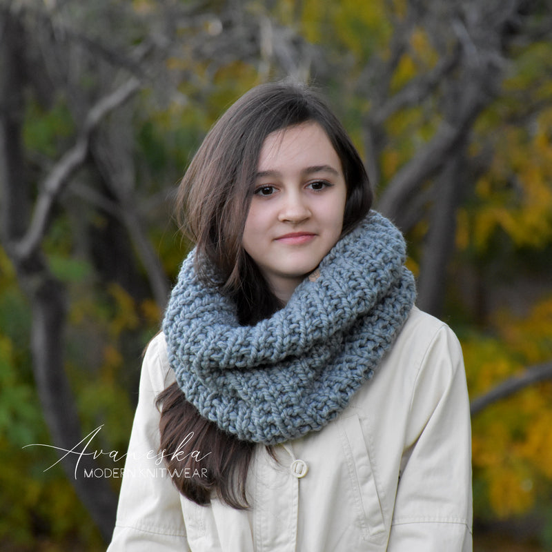 Knit Chunky Winter Woolen Neck Warmer Cowl Scarf | THE HANOVER