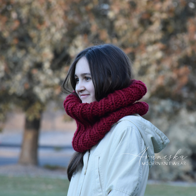 Knit Chunky Winter Woolen Cowl Neck Warmer Collar Scarf | THE LONDON