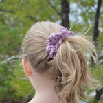 100% Cotton Ruffled Crochet Hair Scrunchies | Set of 3