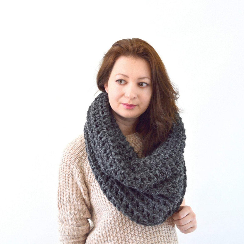 Knit Crochet Chunky Women's Cowl Hood Scarf | THE MOSCOW