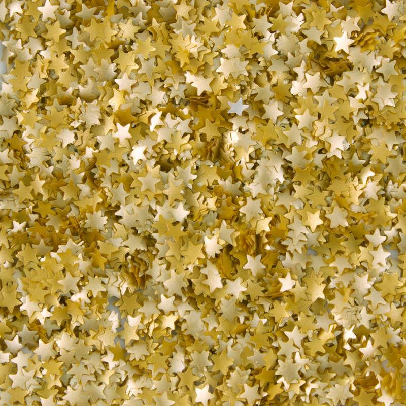 Edible Glitter Shapes - Gold Stars