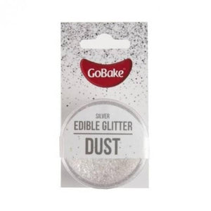 Edible Glitter Dust 2g Silver