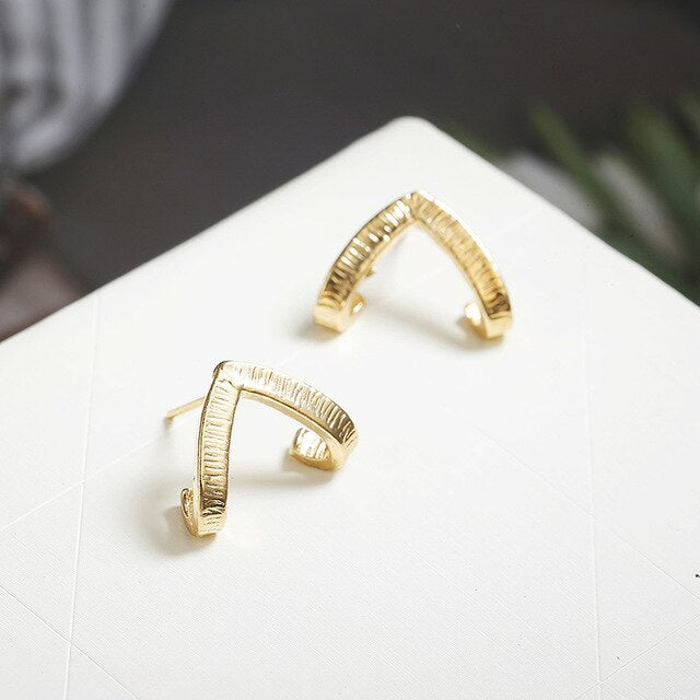 Earrings - Triangle gold - Minimal Paris