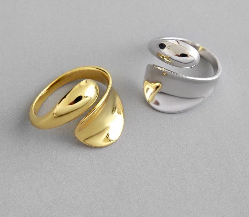 Rings  - Smooth curved - Minimal Paris