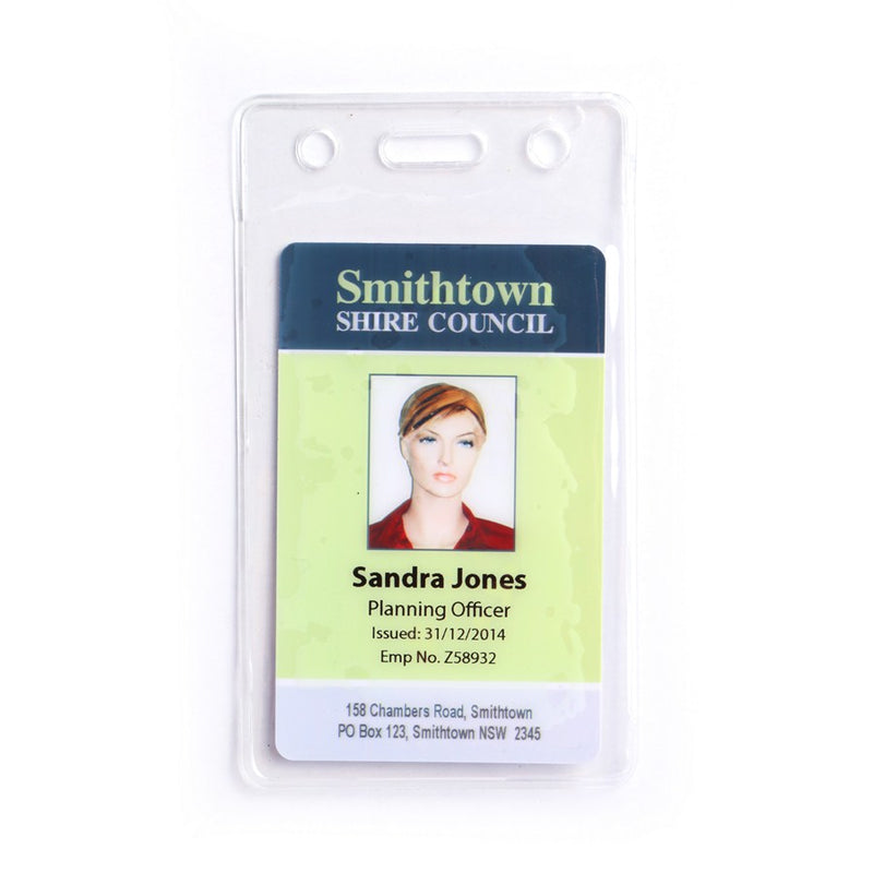 Clear Flexible Prox/Access Portrait Card Holder (Pack of 100)