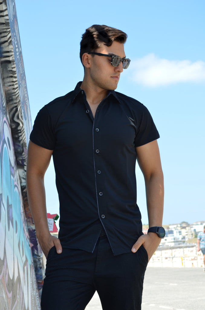 The Slip Shirt™ BLAK | Short Sleeve