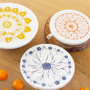 Halo Dish and Bowl Cover Large Set of 3  | Edible Flowers