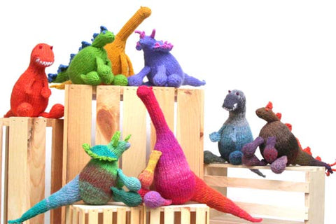 knitted dinosaur stuffed toy knitting pattern