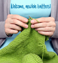 image of knitter's hands