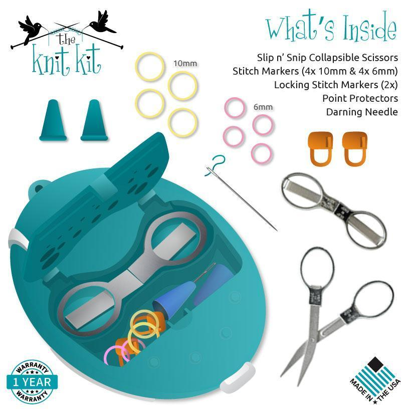 The Knit Kit In Teal Knitting Tools Great Yarn Company