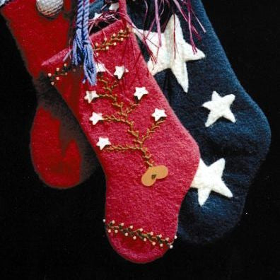Felted Christmas Stocking Knitting Pattern Two Old Bags Great