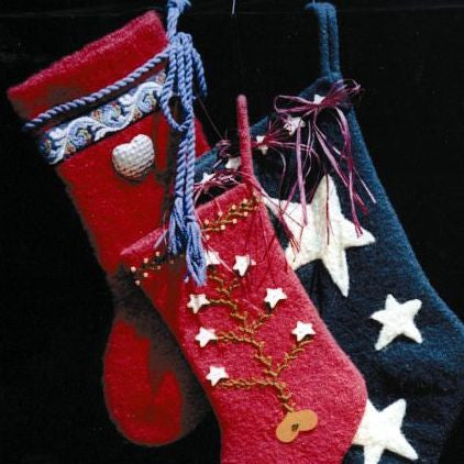 Felted Christmas Stocking Knitting Pattern Two Old Bags
