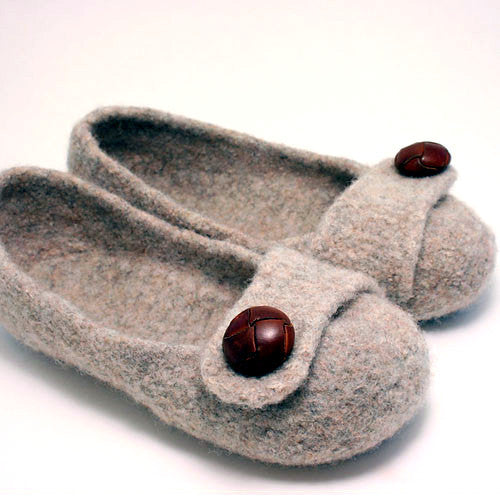 Felted Slippers Knitting Pattern French Press Knits