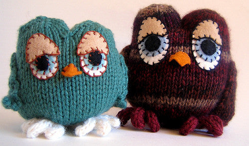Owls Knitting Pattern Caffaknitted Great Yarn Company