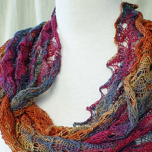 Ring Of Lace Wrap Knitting Patterns Heartstrings Fiberarts Great