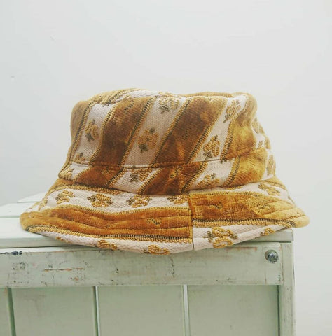 Bucket Hat - Vintage Reworked Fabric