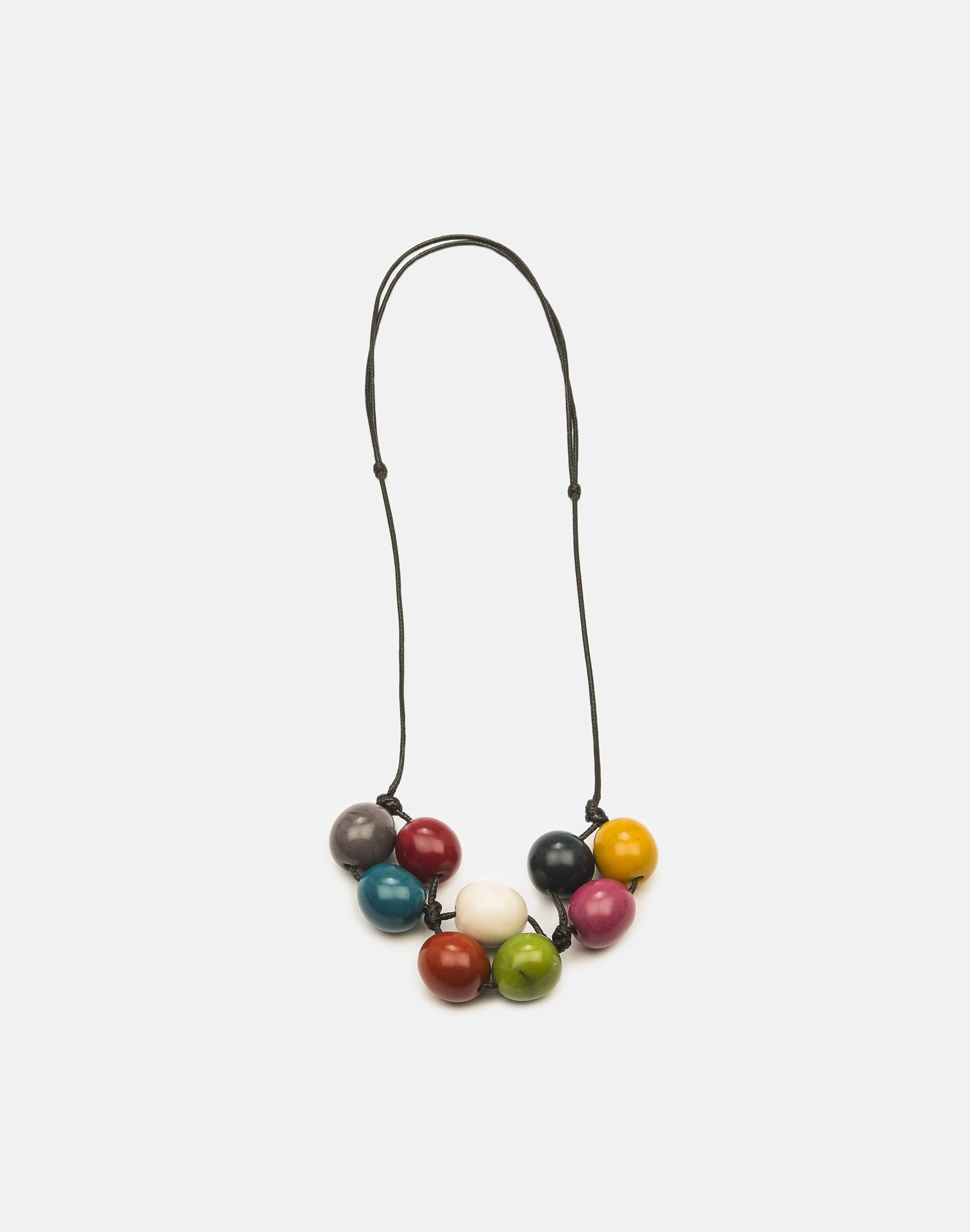 Handmade Tagua Nut Bolota Adjustable Necklace
