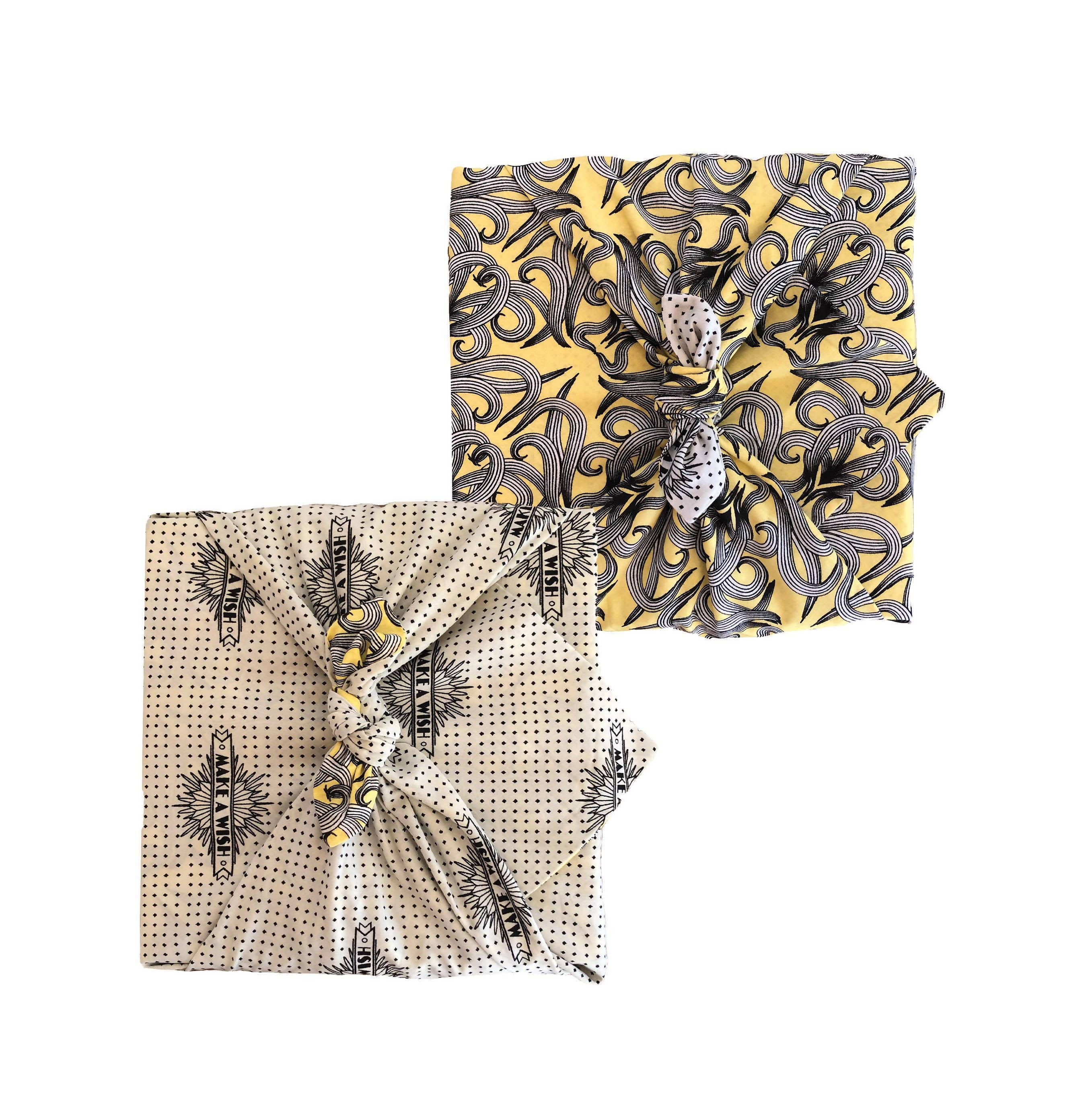 FabRap Reusable Gift Wrap - Sunshine Nouveau & Make A Wish Reversible